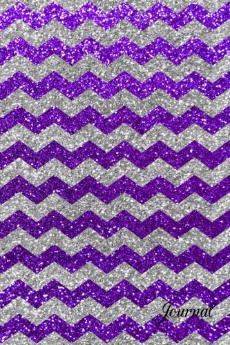 9781532913099: Journal: Faux purple silver glitter chevrons notebook