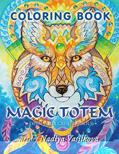 9781532931871: Magic totem: Coloring Book for Grown-Ups, Adult. Beautiful decorative animals, birds, flowers