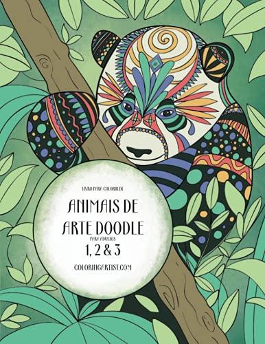 9781532952210: Livro para Colorir de Animais de Arte Doodle para Adultos 1, 2 & 3: 1-3