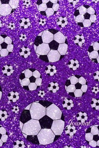 9781532987212: Journal: Faux purple glitter soccer notebook