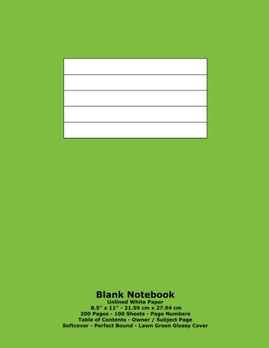 9781533023803: Blank Notebook: Unlined White Paper - 8.5