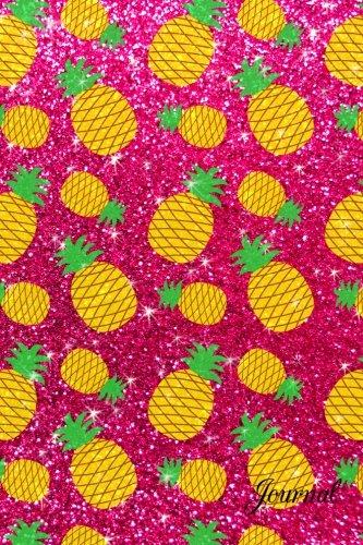 9781533045874: Journal: Faux pink glitter pineapples notebook