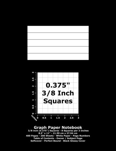 9781533056184: Graph Paper Notebook: 0.375 Inch (3/8