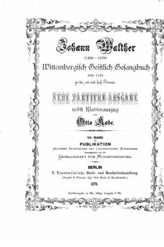 9781533059147: Wittembergisch geistlich Gesangbuch von 1524