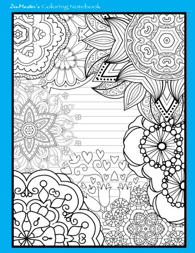 9781533100856: Coloring Notebook (blue): Therapeutic notebook for writing, journaling, and note-taking with designs for inner peace, calm, and focus (100 pages. relaxation and stress-relief while writing.)