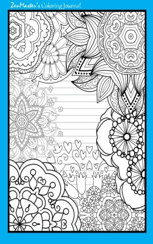 9781533122841: Coloring Journal (blue): Therapeutic journal for writing, journaling, and note-taking with coloring designs for inner peace, calm, and focus (100 ... relaxation and stress-relief while writing.)