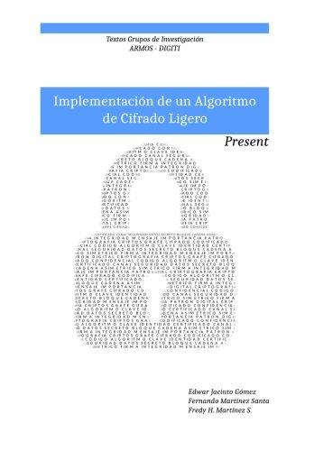 9781533185068: Implementacion de un algoritmo de cifrado ligero: Present: Textos grupo de investigacion ARMOS