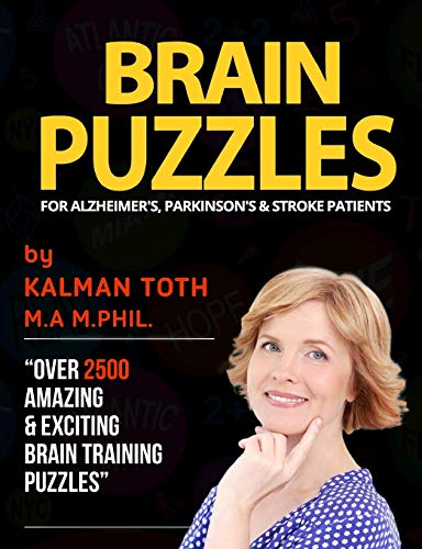 9781533203328: Brain Puzzles For Alzheimer's, Parkinson's & Stroke Patients