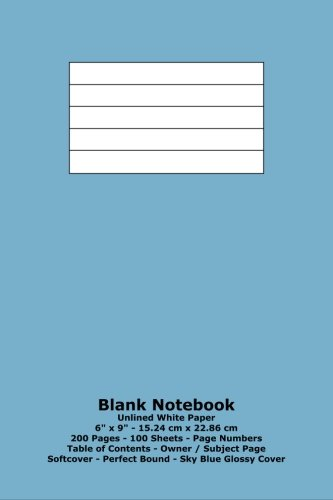 9781533221582: Blank Notebook: Unlined White Paper - 6