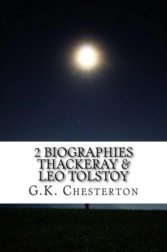 9781533254801: 2 Biographies Thackeray & Leo Tolstoy