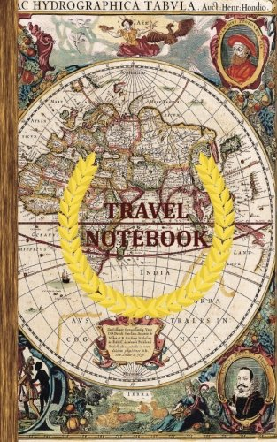 9781533257642: Travel Notebook: Blank Ruled Travel Diary (Notebook) with Antique Ancient Map Cover - Ideal Gift for Travelers.