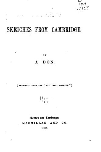 9781533303745: Sketches from Cambridge