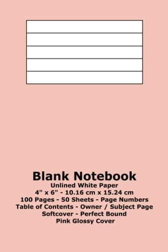 9781533314437: Blank Notebook: Unlined White Paper - 4