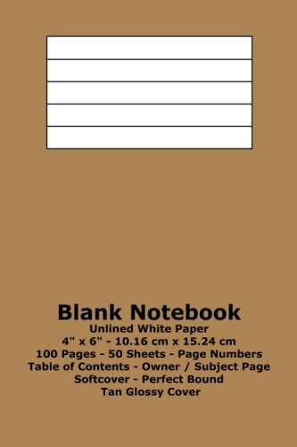 9781533319685: Blank Notebook: Unlined White Paper - 4
