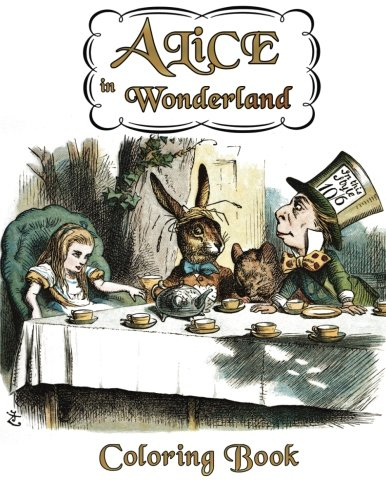 9781533325921: Alice in Wonderland Coloring Book: Illustrations for Lewis Carroll's Classic Work, Now a Walt Disney Film Adaptation Starring Johnny Depp