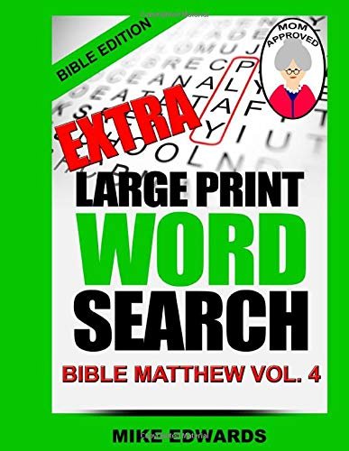9781533394651: Extra Large Print Word Search Bible Matthew Vol. 4