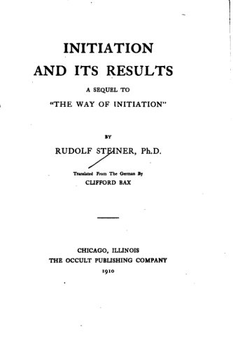 9781533403193: Initiation and Its Results, A Sequel to The Way of Initiation