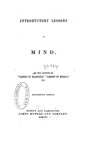 9781533424440: Introductory Lessons on Mind