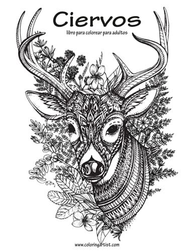 9781533457059: Ciervos libro para colorear para adultos 1: Volume 1