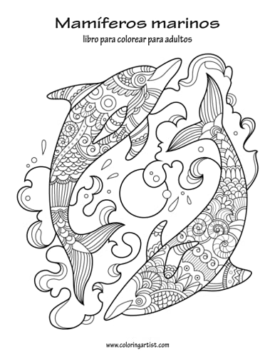9781533457264: Mamíferos marinos libro para colorear para adultos 1 ...