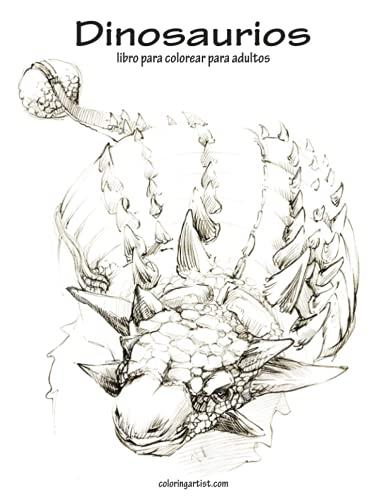 9781533457394: Dinosaurios libro para colorear para adultos 1: Volume 1