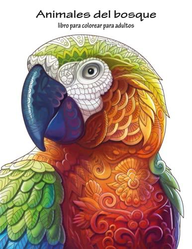 9781533457790: Animales del bosque libro para colorear para adultos 1 (Volume 1) (Spanish Edition)