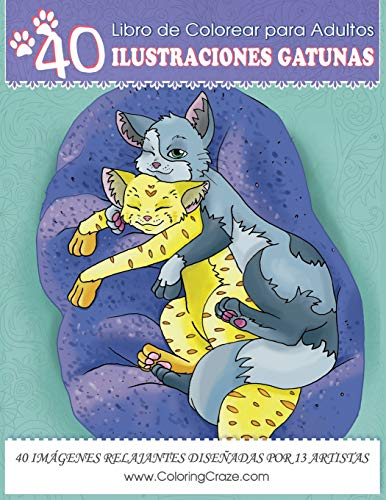 Libro Para Colorear Para Adultos: 40 Divertidas: ColoringCraze
