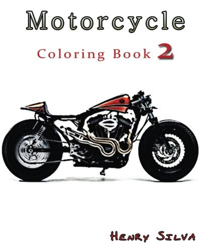 9781533474667: Motorcycle : Coloring Book 2: design coloring book