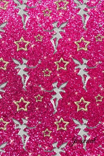 9781533520845: Journal: Faux pink glitter stars fairy notebook