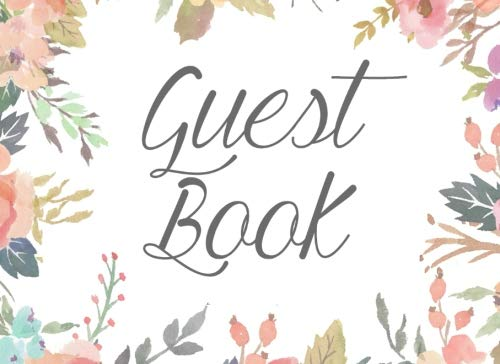9781533539403: Guest Book: Floral Watercolor Guestbook