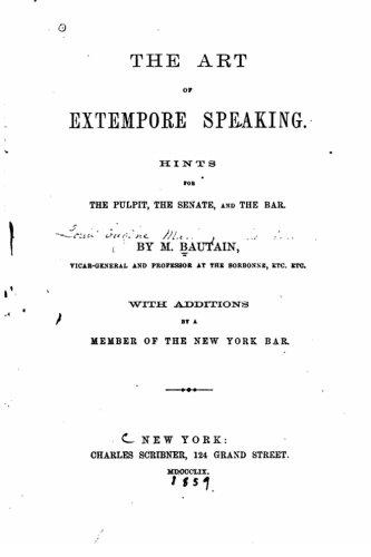 9781533552631: The Art of Extempore Speaking