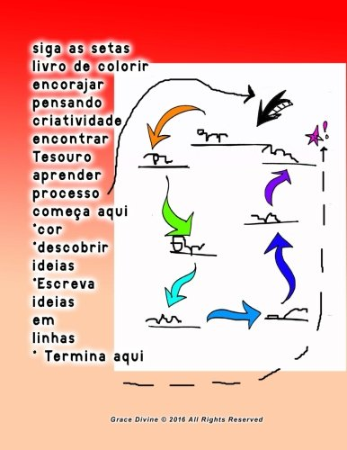 9781533578570: siga as setas livro de colorir encorajar pensando criatividade encontrar Tesouro aprender processo começa aqui *cor *descobrir ideias *Escreva ideias em linhas * Termina aqui