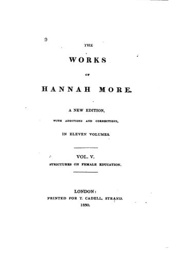 9781533633965: 5: The Works of Hannah More - Vol. V