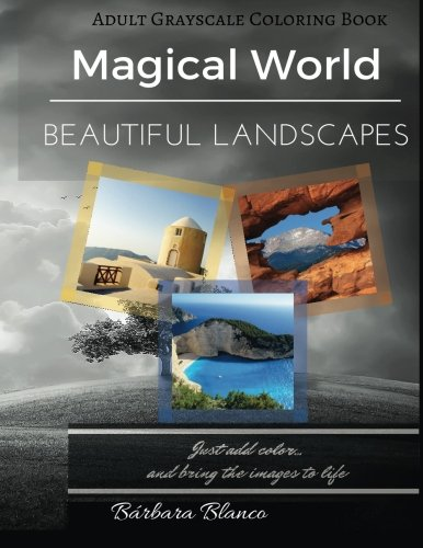 9781533635969: MAGICAL WORLD Beautiful Landscapes: Adult Grayscale Coloring Book