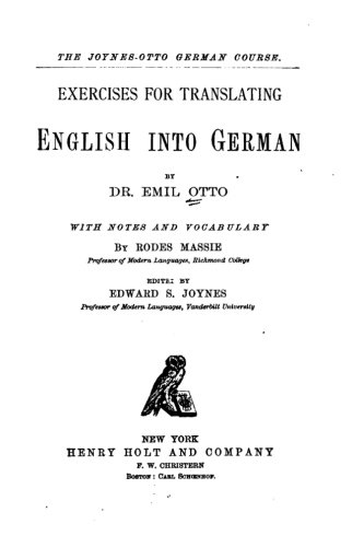 9781533638465: Exercises for translating English into German