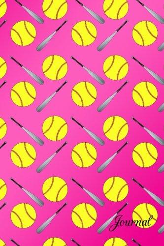9781533654458: Journal: Pink shiny softball notebook