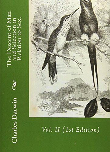9781533688446: The Descent of Man and Selection in Relation to Sex,: Vol. II