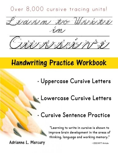 9781534602090 learn to write in cursive over 8 000 cursive tracing