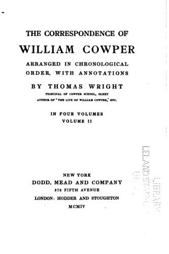 9781534616790: The correspondence of William Cowper arranged in chronological order