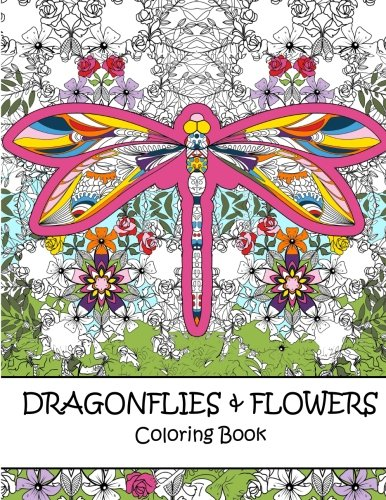 9781534648241: Dragonflies and Flowers Coloring Book