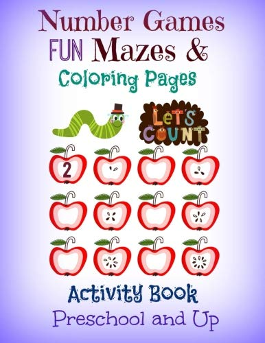 9781534653979: Number Games, FUN Mazes and Coloring Pages Activity Book: Preschool and Up (JUMBO Size Kids Activity Book-Coloring Book with Mazes, Math Games and More) (Volume 2)