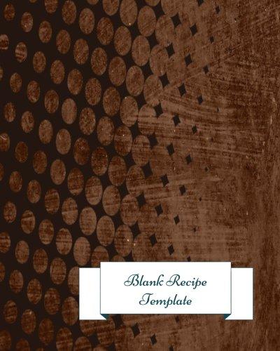 9781534730847 blank recipe template journal notebook recipe