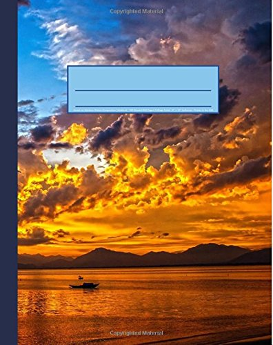 9781534734012: Sunset on Rainbow Waters Composition Notebook: Nautical Landscape Journal, 200 Page Softcover Journal, College Ruled, 8