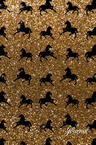 9781534770638: Journal: Faux gold glitter horse notebook