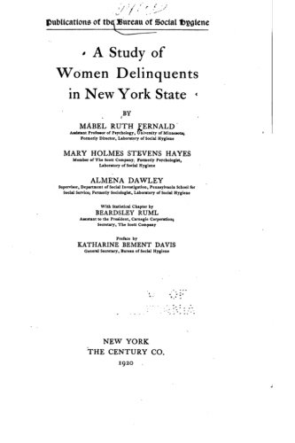 9781534777408: A Study of Women Delinquents in New York State