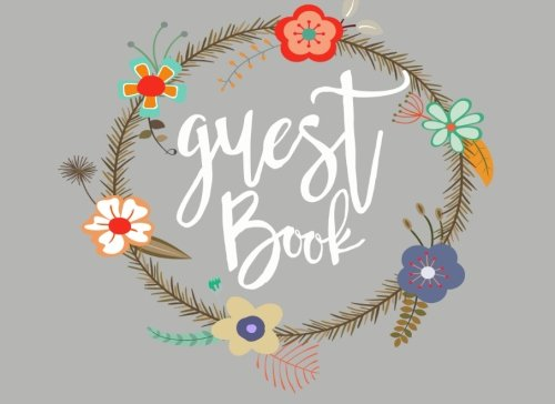 9781534778603: Guest Book: Floral Wreath Guest Book (150 Lined Pages)