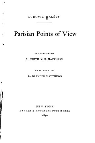 9781534788923: Parisian points of view