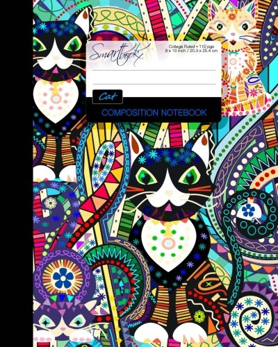 9781534797987: Cat Composition Notebook: College Ruled Writer's Notebook / Journal for School / Teacher / Office / Student [ Perfect Bound * Large * Carnival ] (Animal Series)