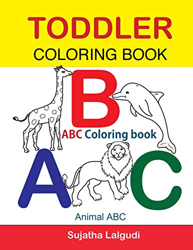 9781534798243: Toddler Coloring Book. ABC Coloring book: Animal abc ...