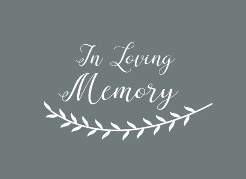 9781534835023: In Loving Memory: Funeral Guest Book & Memorial Guest Book